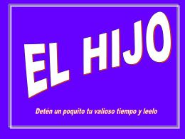 EL HIJO - FERE-CECA-Andalucía | Blog de Pastoral