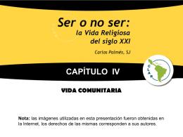 Cap IV LA VIDA COMUNITARIA
