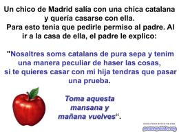 Un chico de Madrid salía con una chica catalana y