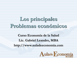 Problema económicos