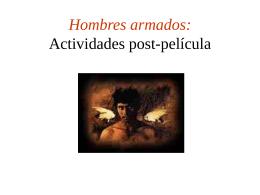 Hombres armados: Actividades post