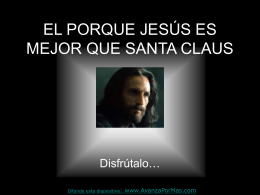 PORQUE JESUS - Contenidos Cristianos