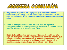 ppt primera comunión - Pagina Web de la Parroquia