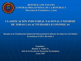 Clasificación Industrial Nacional Uniforme de