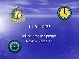İ La Hora!