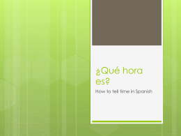 ¿Qué hora es? - Grapevine Colleyville Independent