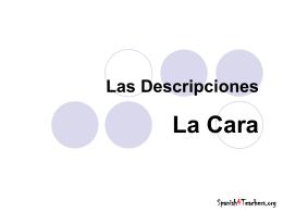 La Cara_ Descripciones