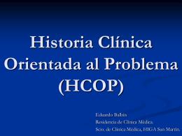 Historia Clínica Orientada a Problemas (HCOP)
