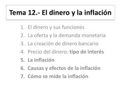 Tema 12.- El dinero