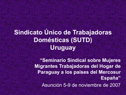 Sindicato Único de Trabajadoras Domésticas (SUTD)