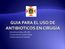 GUIA PARA EL USO DE ANTIBIOTICOS EN CIRUGIA