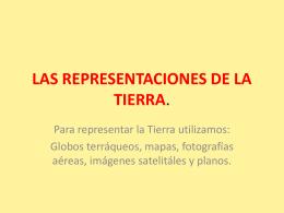 LAS REPRESENTACIONES DE LA TIERRA.