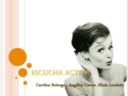 ESCUCHA ACTIVA - Sancho Panza | Comunicación