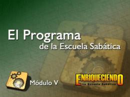 El programa de la Escuela Sabática