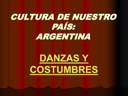 Cultura de nuestro país