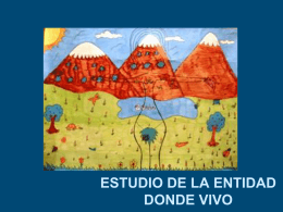 ESTUDIO LA ENTIDAD DONDE VIVO