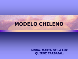 MODELO CHILENO - Tufts Fletcher School