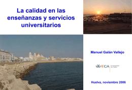 Definicion de calidad - Universidad de Huelva