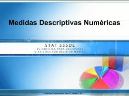 Medidas Descriptivas Numéricas