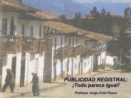 PUBLICIDAD REGISTRAL - DIPLOMADOS EN DERECHO