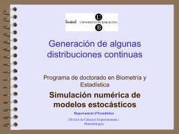 Generación de algunas distribuciones continuas