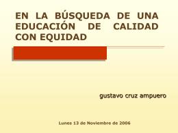 ESTÁNDARES EDUCATIVOS BUSCANDO UNA EDUCACIÓN DE