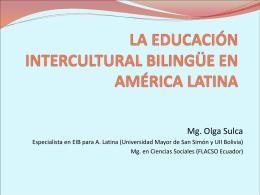 LA EDUCACIÓN INETRCULTURAL BILINGÜE EN AMÉRICA