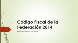 Código Fiscal de la Federación 2014