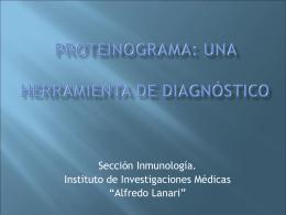 Proteinograma: una herramienta de diagnóstico