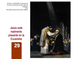 Jesús está realmente presente en la Eucaristía