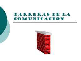 BARRERAS DE LA COMUNICACION - myred
