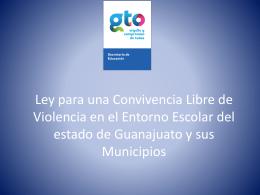 LEY PARA UNA CONVIVENCIA LIBRE DE VIOLENCIA EN EL