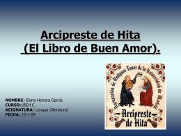 Arcipreste de Hita (El Libro de Buen Amor).