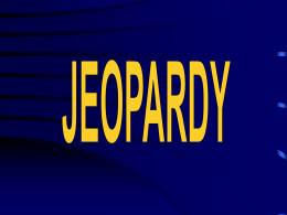 Jeopardy - Carmel Clay Schools