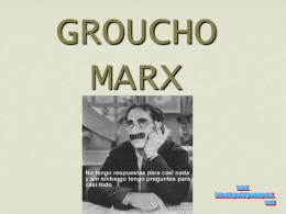 GROUCHO MARX - El Intercambiador