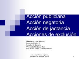 Acción publiciana - Derechos Reales II