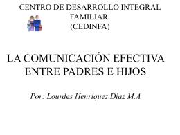 La comunicación efectiva entre padres e hijos