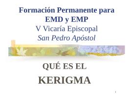 Formación Permanente para EMD y EMP V Vicaría
