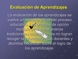 La evaluación de los aprendizajes se vuelve un