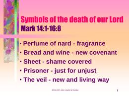 Símbolos de la Muerte del Señor Marcos