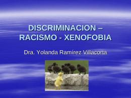 DISCRIMINACION – RACISMO