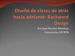 Diseño de clases de atrás hacia adelante: Backward