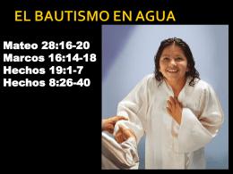 EL BAUTISMO EN AGUA - Iglesia Nueva Vida