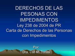 Política pública del ELA según la Ley Núm. 238