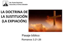LA DOCTRINA DE LA SUSTITUCIÓN (LA EXPIACIÓN).