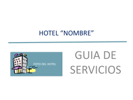 "HOTEL ""NOMBRE"" - Curso Office 2003 Collado"