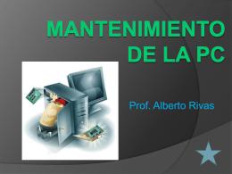 Mantenimiento de la PC - Blog del Prof. Alberto