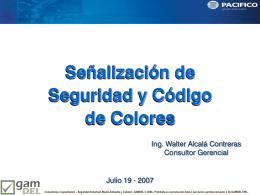 Senalizacion de Seguridad y Codigo de Colores