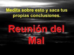 REUNIÓN DEL MAL