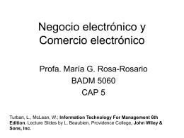 Negocio electrónico y Comercio electrónico